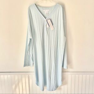 Crabtree & Evelyn Blue Turkish Cotton Nightgown